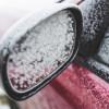 espejo retrovisor con nieve
