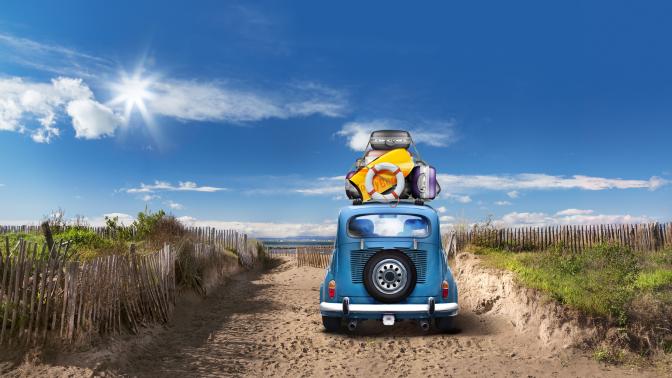 Viaje largo, coche, carnet de conducir, practicavial, autoescuela