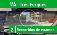 V4 Tres Forques Recorrido De Examen Valencia PracticaVial