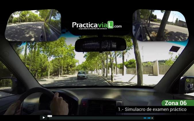 Recorrido de conducir en zonas de examen Barcelona.