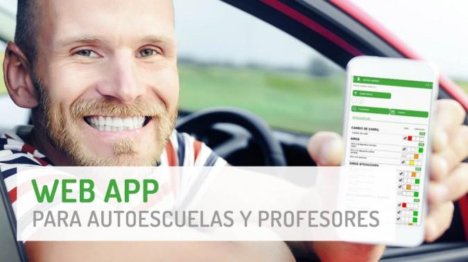 Aplicación Web App para profesor de Autoescuela
