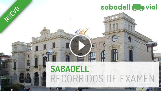 Recorridos en zona de examen Sabadell