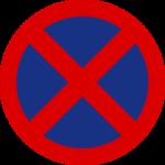 Señal de prohibido parar y estacionar.