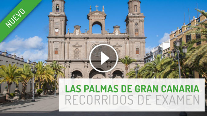 Rutas examen práctico conducir en Las Palmas