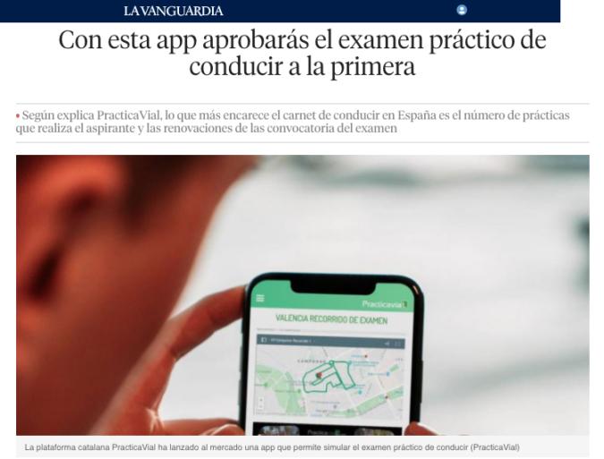 PracticaVial La Vanguardia App