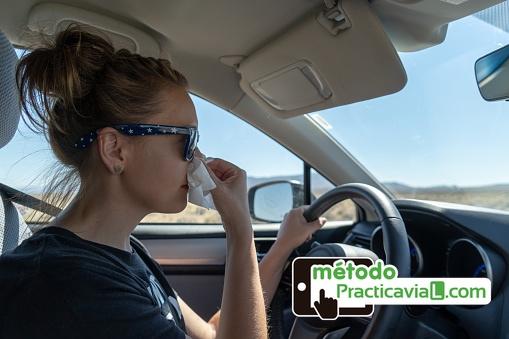 Consejos conducir con alergia